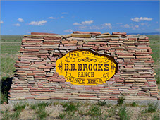 Entrance to the BB Brooks Wyoming Ranch