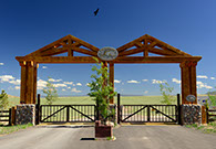 Entrance to Wild Horse Ranch Wyoming